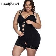 FeelinGirl Plus Size XS 6XL Shapewear Waist Slimming Briefs Butt Lifter Modeling Strap Body Shaper Underwear Women Bodysuit A