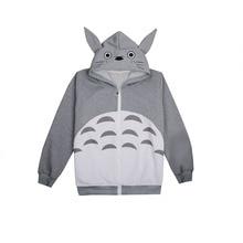 Brdwn My Neighbor Totoro Unisex Cosplay Long-Sleeved Hoodie Casual Coat Jacket