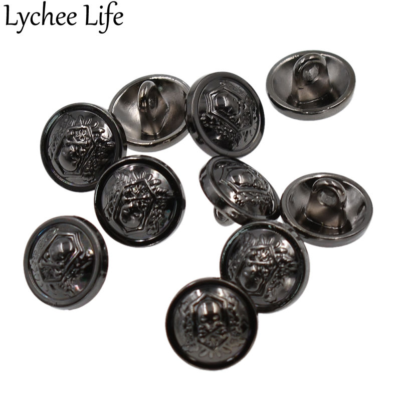 Buttons Meetee 20pcs 29*16mm Flower Leaf Retro Metal Button For Coat Women Men Suits Buttons Decoration Diy Sewing Accessories Zk869 Arts,crafts & Sewing