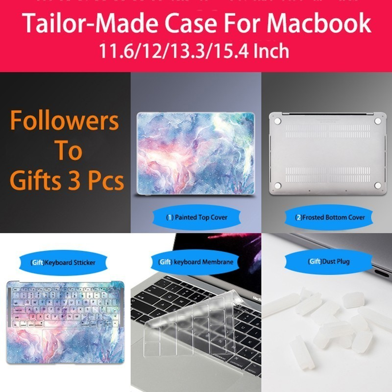 New Customize Luva Do Portátil Notebook Case Para Macbook Air 11 12 13 Capa Para Apple Macbook Air Pro Retina 13.3 15.4 Caso Polegada