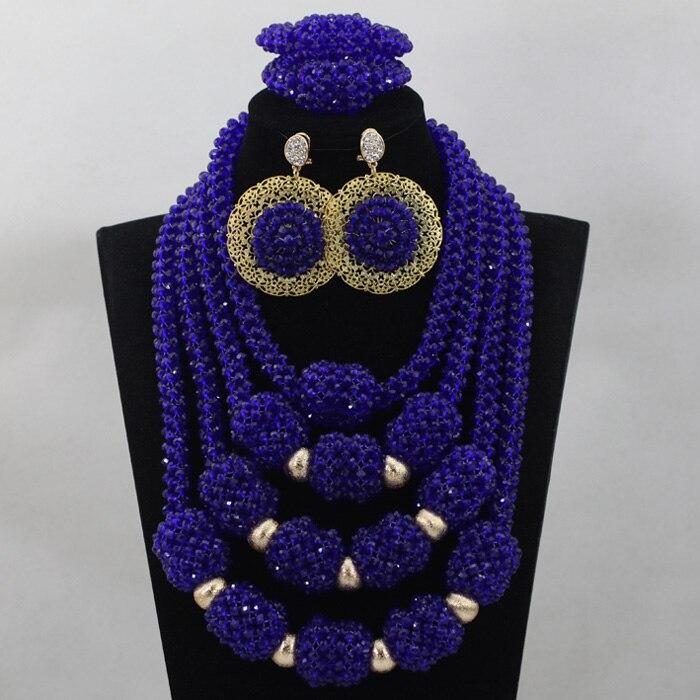 Здесь продается  Fantastic Royal Blue Wedding Statement Necklace Set Crystal Pendant Bib Bridal Jewellery Set Free Shipping WD565  Ювелирные изделия и часы