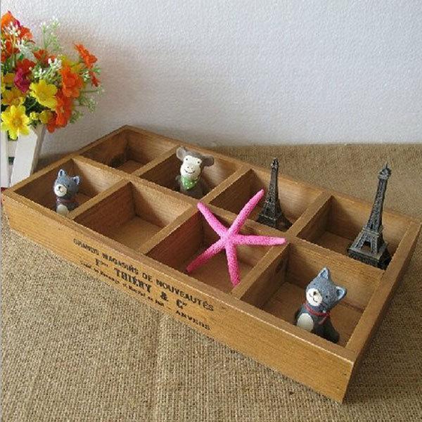 Simple Japan Style Zakka Storage Box Retro Wooden Craft Organizer Handmade Boxes Wood Crafts Sundries Cajas 32.5X17X 4cm HZ008-in Storage Boxes ...