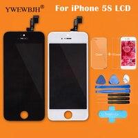 YWEWBJH pantalla táctil del LCD del AAA para el iPhone 5 5S 5C LCD Asamblea con digitizador muerto reparación negro Blanco