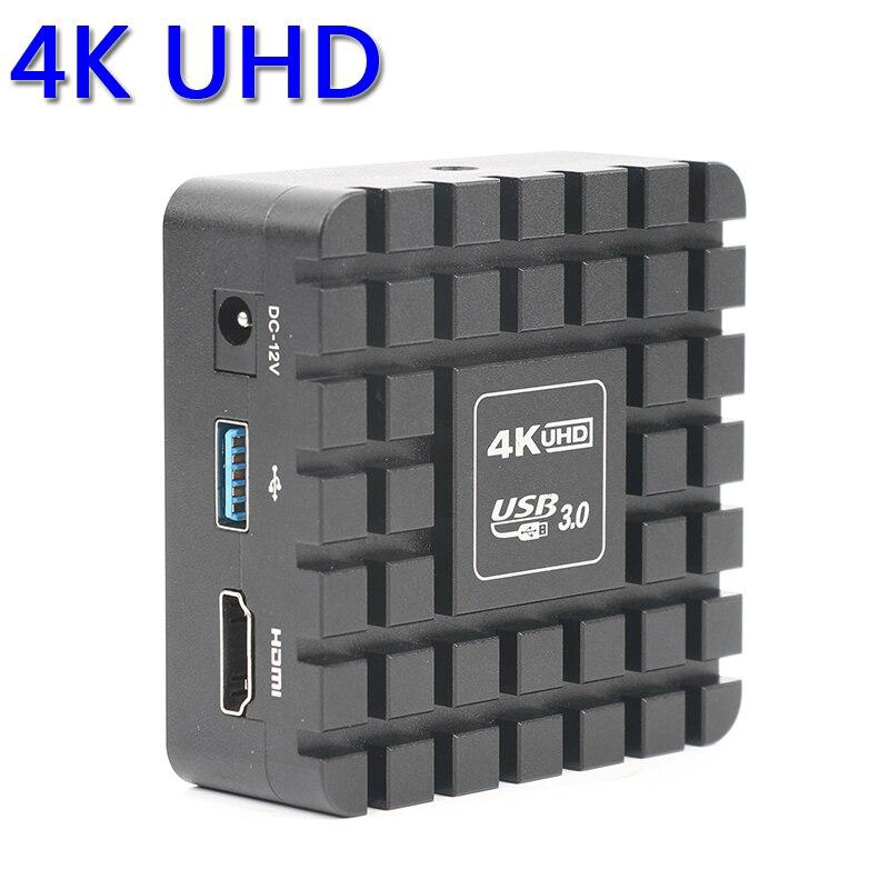 1080 p 12MP 4 k UHD HDMI 3840*2160 Digitale Industriale C mount Video Microscopio TF Della Macchina Fotografica di Video Immagine funzione di Misurazione di stoccaggio