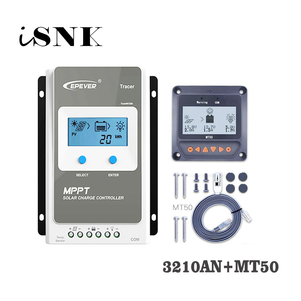 Tracer3210AN 30A MPPT Solar Charge Controller cell battery charger control 3210AN 3210A with MT50 Remote Meter