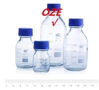 1PCS Graduated Round Glass Reagent Bottle 1000ml Blue Screw Cap Screw On Cover