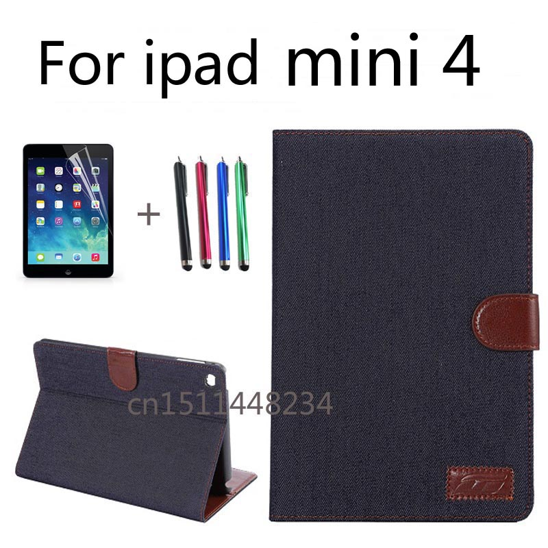 Brand Luxury Business cowboy Shockproof Flip Wallet Stand PU Leather For Apple ipad mini 4 Case Smart Cover For ipad mini4 Shell coque fundas for apple ipad air ii 2 pu leather stand luxury new cover case for ipad 6 a1566 a1567 9 7 inch cartton wallet shell