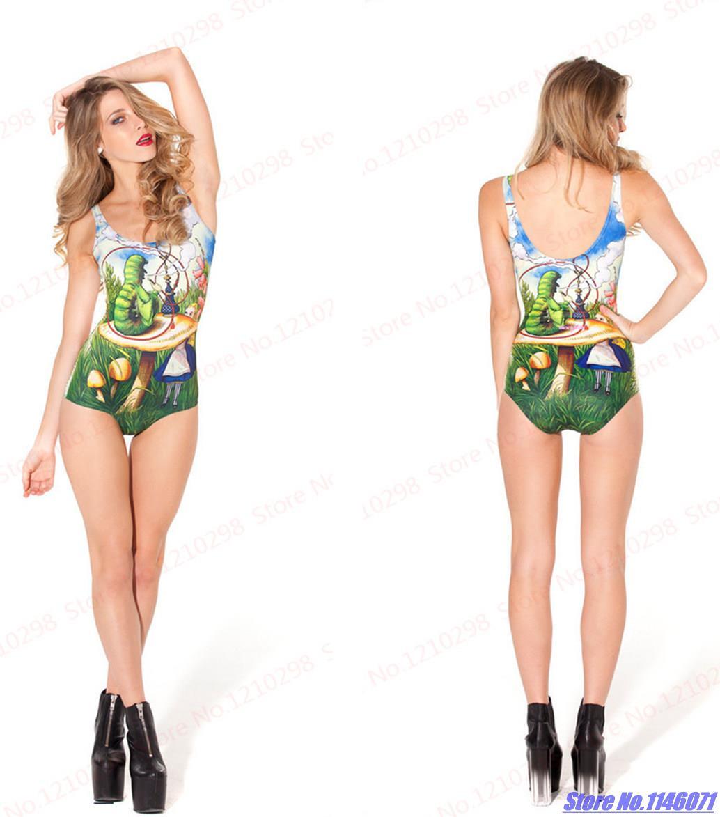 online store 36333 6bfcd US $6.04 |Alice im Wunderland Badeanzug One Piece Grün Fairytales  Geschichten Bademode Frauen 3D Print Bodysuit Sommer Biquinis in Alice im  Wunderland ...