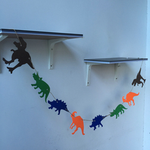 Freeshipping Dinosaur Partys 3 Meter Felt Banner Flag Birthady Party Decoration Bunting supply for Children room fabric