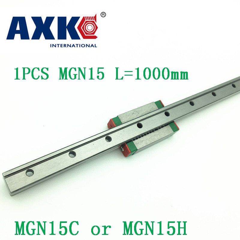 15mm Linear Guide Mgn15 L=1000mm Linear Rail Way + Mgn15c Or Mgn15h Long Linear Carriage For Cnc X Y Z Axis free shipping 15mm linear guide mgn15 700mm linear rail way mgn15h long linear carriage for cnc x y z axis