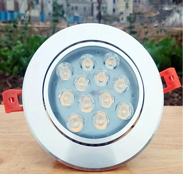 Новые Светильники потолочные светодиодные 12*1 Вт встраиваемые белый Светильники потолочные светодиодные потолочный светильник AC85-265V теплы...