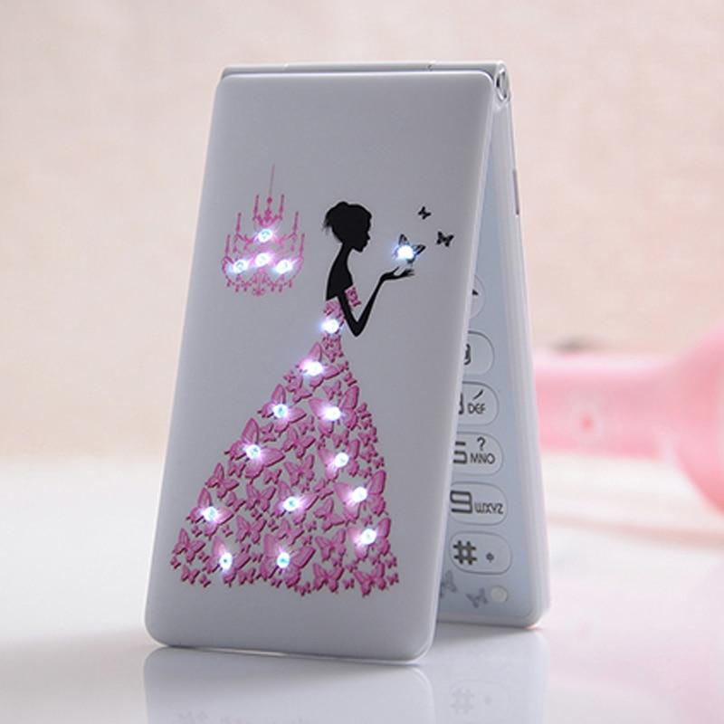 New Unlocked Flip Phone KUH D11 Dual SIM 1800mAh Card