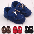 Fashion Leisure Newborn Baby Boy Kids First Walkers Soft Bottom Anti-slip Shoes Infant Toddler Slip-On Crib Loafer