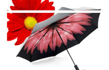 Sunshine Umbrella Anti-ultraviolet Sunshade Triple fold Small Black Sunscreen Rubber in Summer