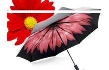 Sunshine Umbrella Anti-ultraviolet Sunshade Umbrella Triple fold Small Black Umbrella Sunscreen Black Rubber in Summer