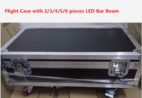 Flight Case With 2 3 4 5 6 PCS LED Bar Beam Moving Head Light RGBW
