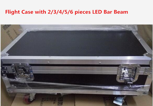 Flight Case with 2/3/4/5/6 PCS LED Bar Beam Moving Head Light RGBW 8x12W Perfect for Mobile DJ, Party, nightclub Colorstage