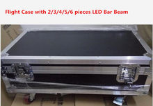 Flight Case with 2/3/4/5/6 PCS LED Bar Beam Moving Head Light RGBW 8x12W Perfect for Mobile DJ, Party, nightclub Colorstage(China)