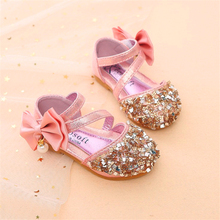 Gold Silver Pink summer Children Leather Shoes Casual Girls