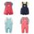 2 Unidades/pacote Bebê Define Curto/Mangas Compridas T-shirt Top + Bib Meninos calças Do Bebê Meninas Listrado Dot Sólidos Bonito Roupas de Algodão Terno V49