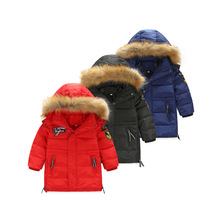 Korean Version Of The Big Virgin Fur Collar Hooded Down Jacket Long Section Of Thick White Duck Down 90% High Velvet Jacket Boys