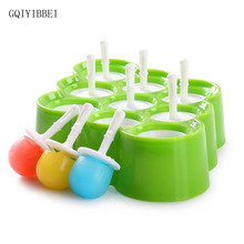 GQIYIBBEI Non-toxic Food Grade Silicone DIY 9 Cells Mini Ice Pops Maker Molds For Ice Cream Popsicle Makers Kitchen Accessories
