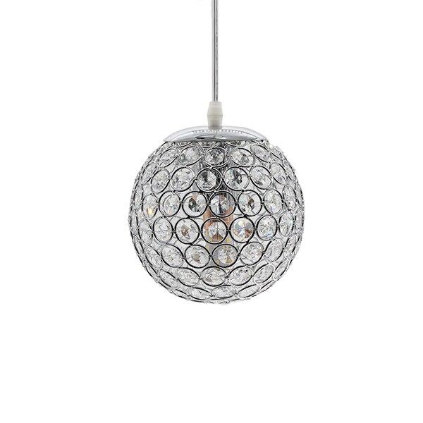 E27 современный красивый кулон светильник s Золото/Серебро подвесной светильник, круглый шар кристалл D15CM подвесные лампы для гостиной комнаты(DN-65 - Цвет корпуса: Silver Pendant Lamp