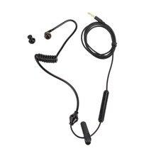 Alloet 3.5mm Hava Tüp Anti-radyasyon Stereo Kulaklık Dahili mikrofon için arama ve müzik için Walkie Talkie