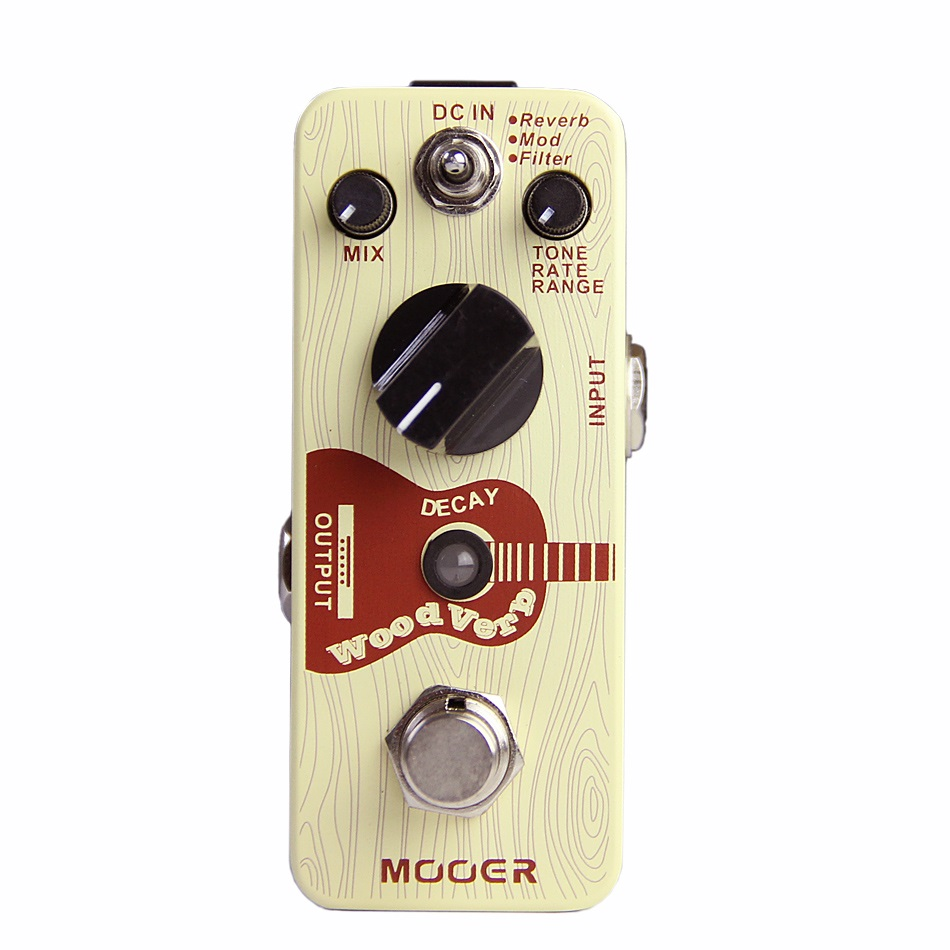 Mooer 3 Reverb Modes Full Metal Shell Effects WoodVerb Acoustic Guitar Reverb Effect Pedal Guitarra Accessory mooer ensemble queen bass chorus effect pedal mini guitar effects true bypass with free connector and footswitch topper