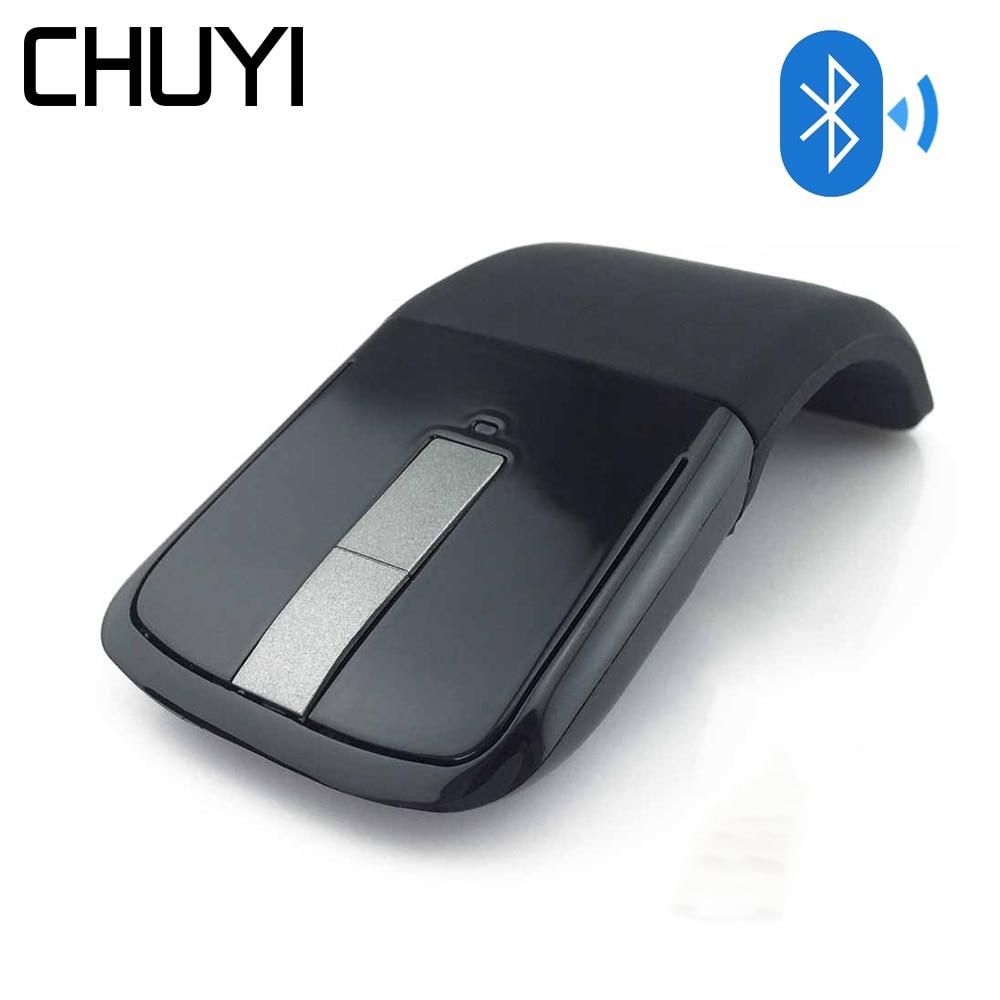 CHUYI Bluetooth Wireless Arc Touch Mouse 1200DPI Optical Folding Slim font b Notebook b font Mause
