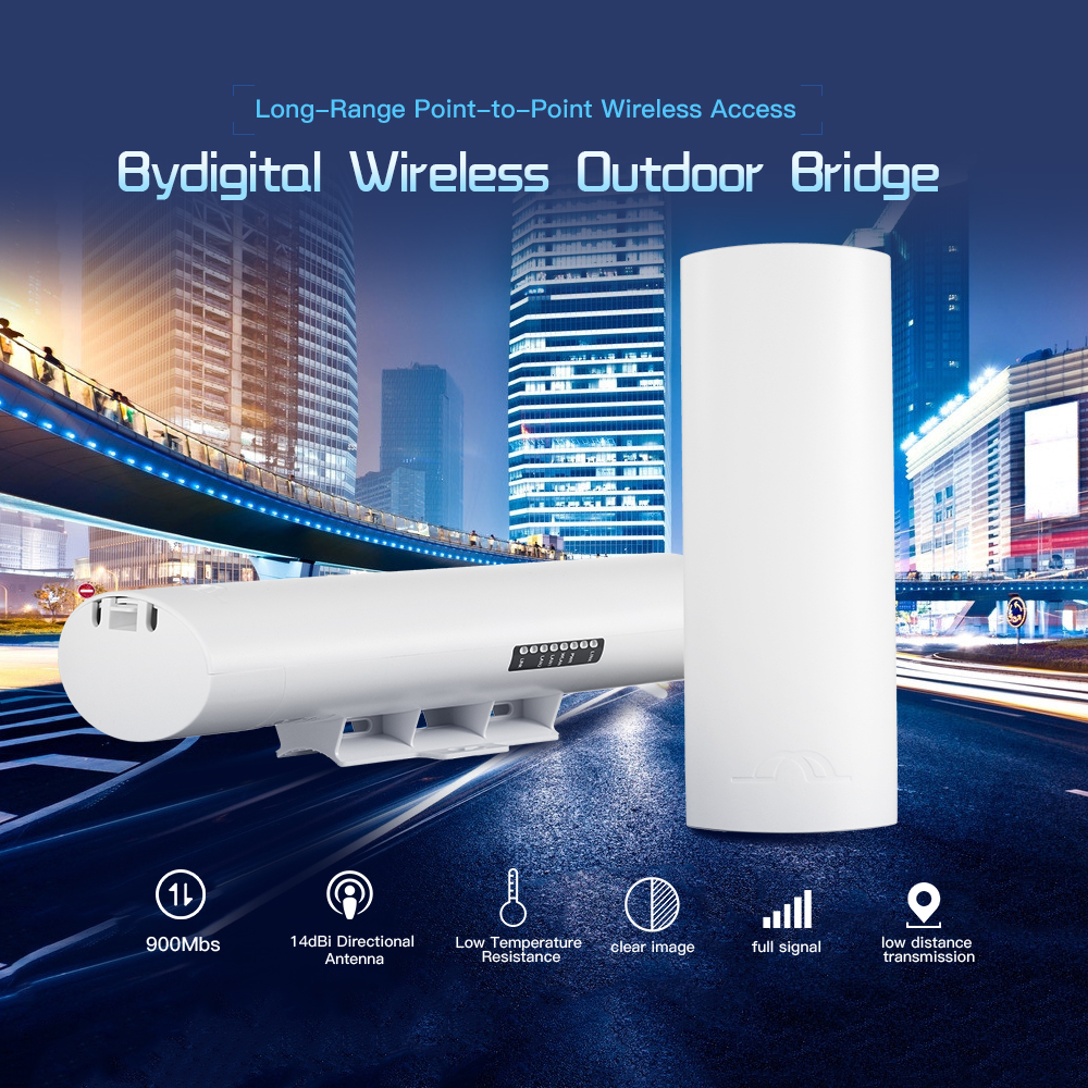 Wireless Outdoor CPE Bridge 900Mbps 5 8G 14dBi Directional Antenna Long Range Point to Point Wireless