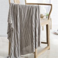 Sofa Blanket Plaid Knitted Summer Blankets Throw Bed Covers Bamboo Fiber Blanket Portable Car Air Conditioning Cobertor