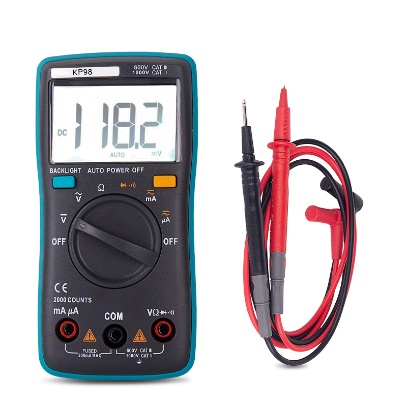 DC/AC Voltmeter Digital Ammeter Multimeter Tester Current Voltage Indicator Meter Set Of Probes Electric Meters Multi-tester Tip