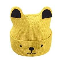 Baby hat 0-3-6-12 months autumn and winter male female newborn baby 1-2 years old children wool warm