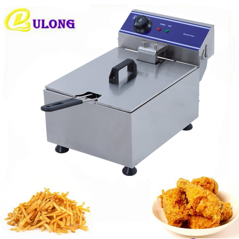 Best Price 10L Electric  Deep Fryer Countertop Mini Stainless Steel Commercial  French Fries Single Tank Oil Boiler best price 10pcs stainless steel wire keychain cable key ring for outdoor hiking popular
