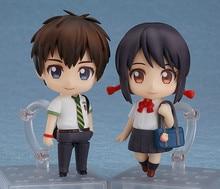 Anime pvc action Movie Your Name Nendoroid Tachibana Taki Miyamizu Mitsuha Action Figure collection Model for Toys Gift