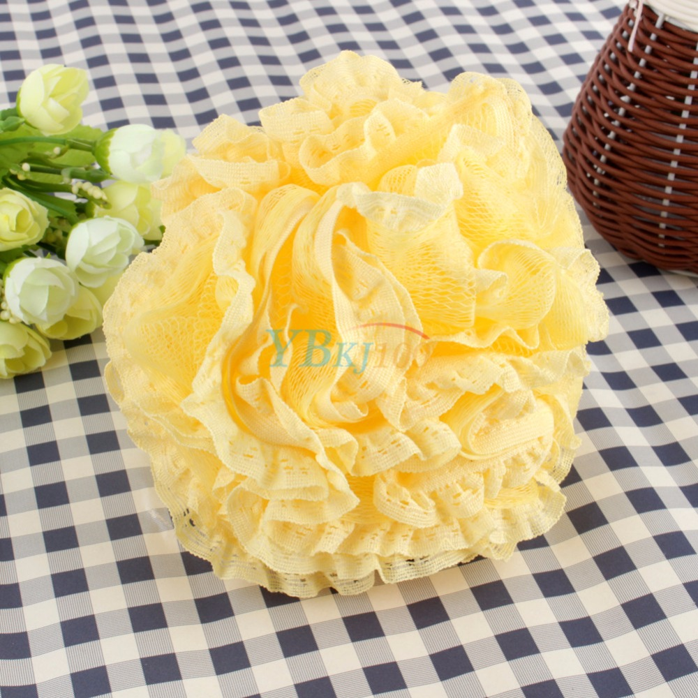 4 Colors Beatiful Lace Bath Ball Colorful Body Cleaning Mesh Shower Wash Product Bath Flower Bubble Diameter 18cm