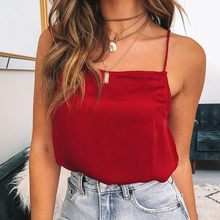 Summer Sexy Female Chiffon Tops Women Sleeveless Straps Tank Top Solid Vest Shirts Ladies Camis Casual Ginger Green Red Blusas women summer modale tank tops 2019 female sexy slim camis female ladies solid tank top
