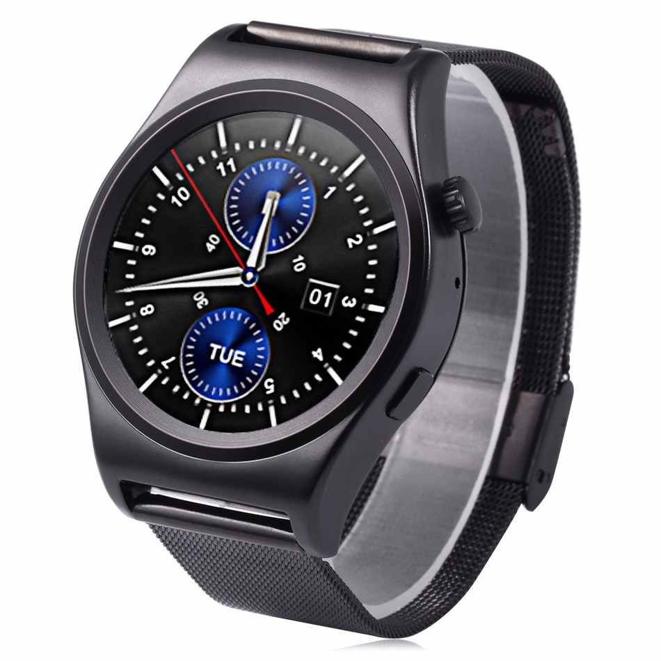 ФОТО 2016 X10 Fullly Rounded Smart Watch Suppors tHeart Rate Monitor Bluetooth 4.0 Real Leather Smartwatch Supports Arabic Turkish