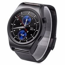 2016×10 satt abgerundete smart watch suppors theart rate monitor bluetooth 4,0 echt leder smartwatch unterstützt arabisch türkisch