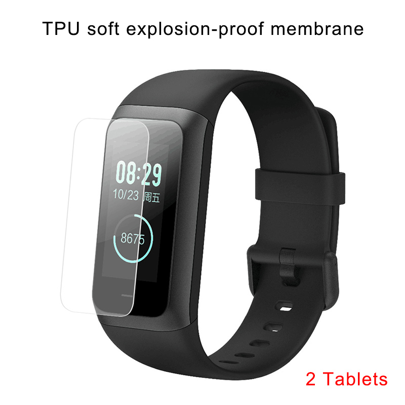 2 Pcs TPU Screen Protector for <font><b>Huami</b></font> <font><b>Amazfit</b></font> <font><b>Cor</b></font> 2 <font><b>MiDong</b></font> Fitness Smart Bracelet QJY99 image