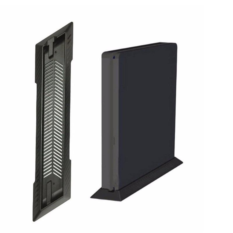 Gen Game Vertical Stand Dock Mount Supporter Base Holder Cradle for Sony Playstation 4 PS4 Slim Console Black
