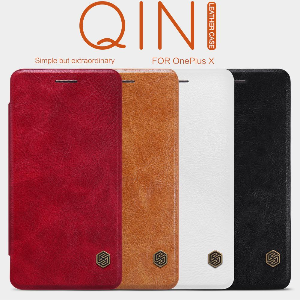 OnePlus X Case Cover Nillkin Qin Series PU Leather Cover Flip Case For OnePlus X / E1001