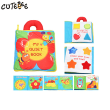CUTEBEE Baby Stroller Rattle cloth books toys Montessori Educational Mobiles Toy 12 pages Soft Cloth for