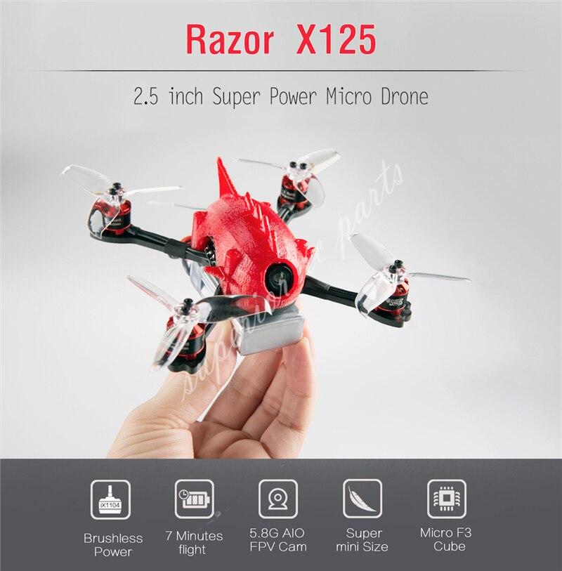 Rasoir X125 2.5 ''X95 2'' FPV Racing quadrirotor Drone F3 6DOF contrôle 600TVL HD Cam 1106 6000KV moteur FrSky Flysky BNF Style gratuit