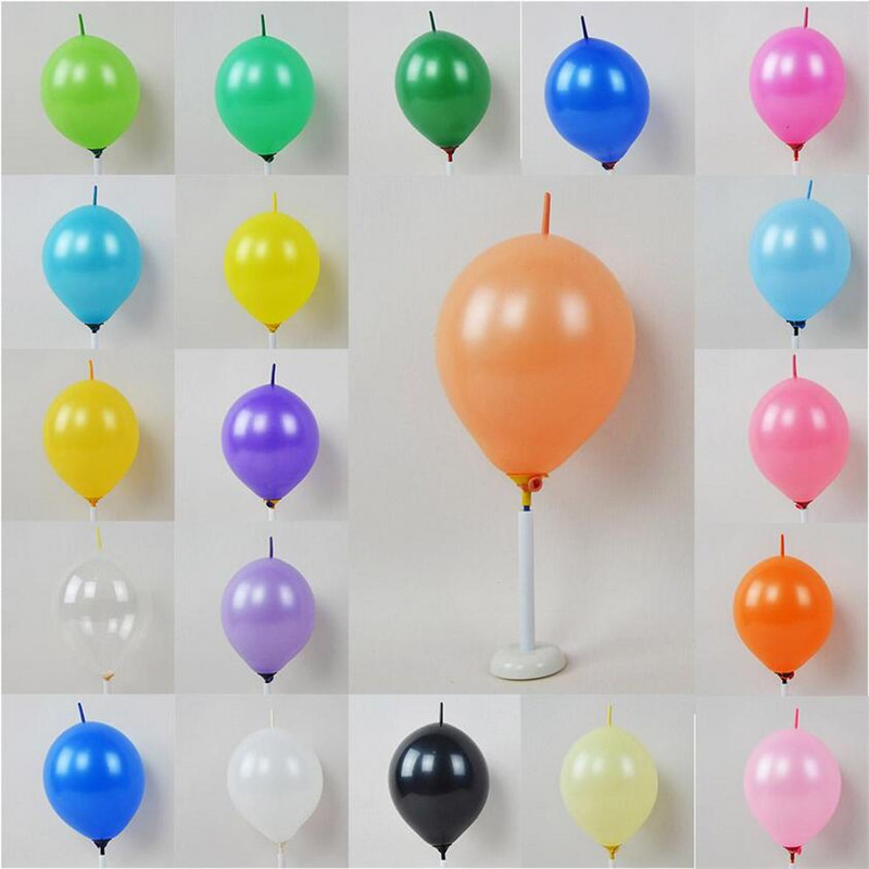 100pcs lot 6 inch tail anniversary party balloons decoration balloons birthday toys party line blobos pink purple gold silver in Ballons Accessories from Home Garden