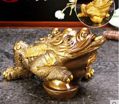 Voorzichtig Thee Huisdier Driepotige Goud Emaille Pad Ornamenten Boutique Thee Play Thee Schat Servies Play Water
