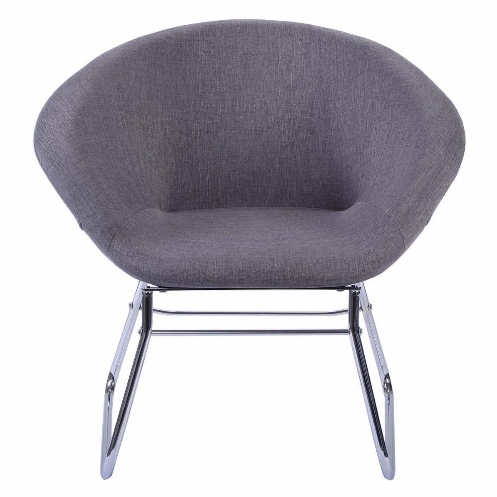 Giantex New Modern Gray Accent Chair Leisure Arm Sofa Lounge Living Room Home Furniture Bar Chair HW51949