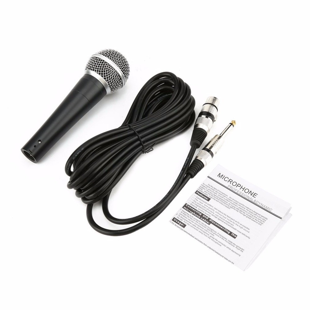Dynamic Condenser Wired Recording Microphone Cardioid Microphones Instrument Unidirectional Handheld Karaoke Microphone