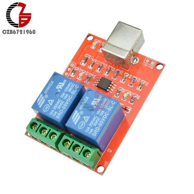 5V 2 Channel Relay Module USB Control Switch Computer Control Switch PC Intelligent Control For Smart Home